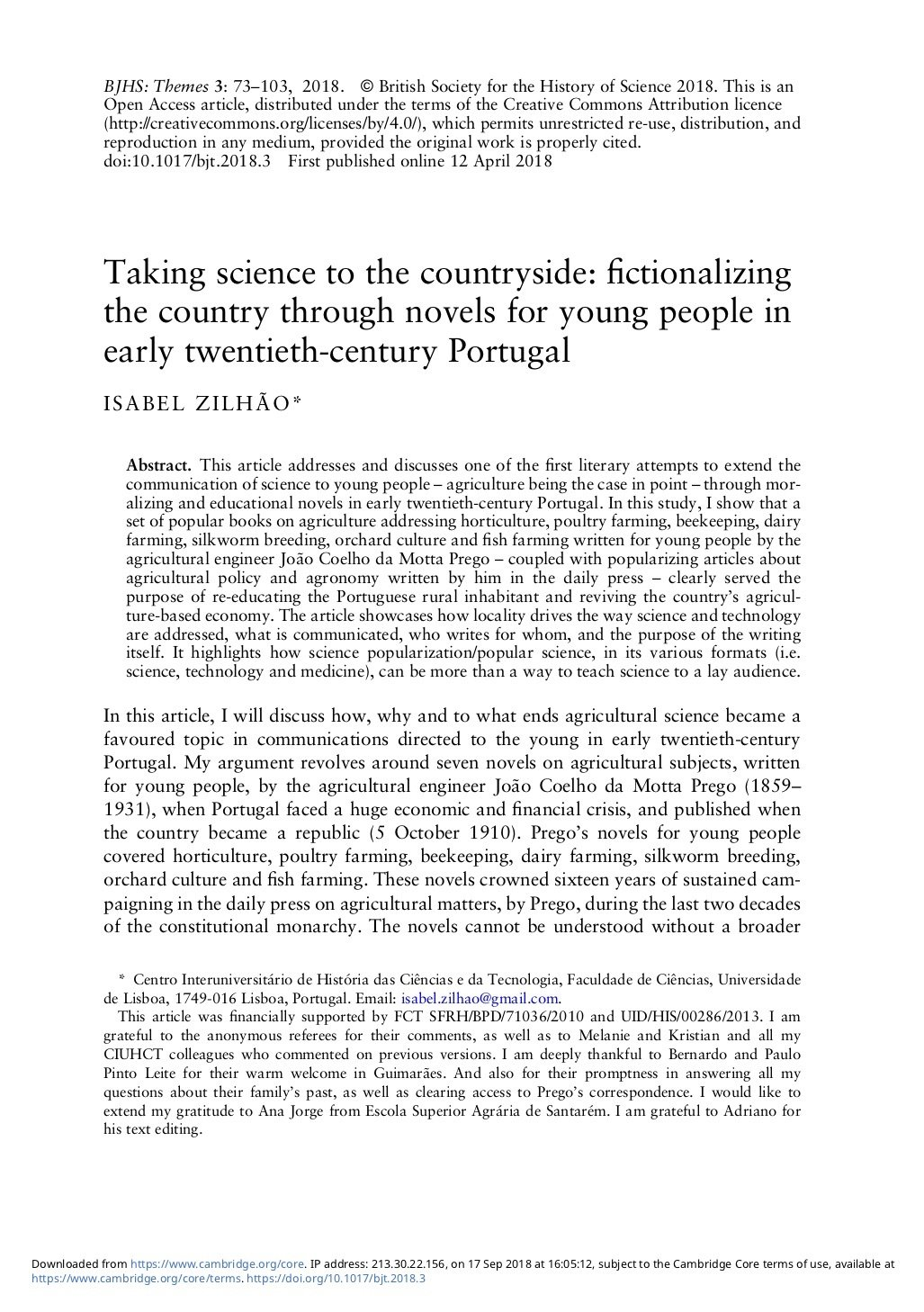 Taking science to the countryside: fictionalizing the country through novels for young people in early twentieth-century Portugal, Capa
